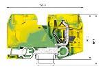 Пружинная клемма на DIN-рейку WKF 35 SL/35
