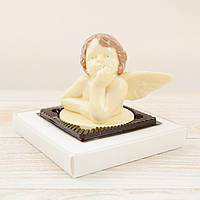 """Шоколадная фигура """"Ангелочек"""" ЭЛИТНОЕ сырье. Размер: 74х120х93мм, вес 260г, фото 1"""