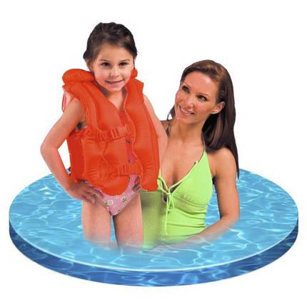 Детский надувной жилет красного цвета Intex 50-47 см, фото 2