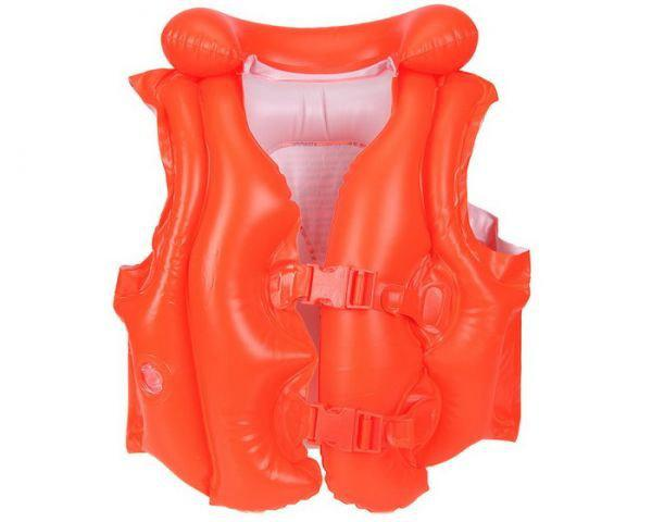 Детский надувной жилет красного цвета Intex 50-47 см