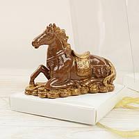 """Шоколадная фигура """"Конь"""" ЭЛИТНОЕ сырье. Размер: 135х55х100мм, вес 260г, фото 1"""