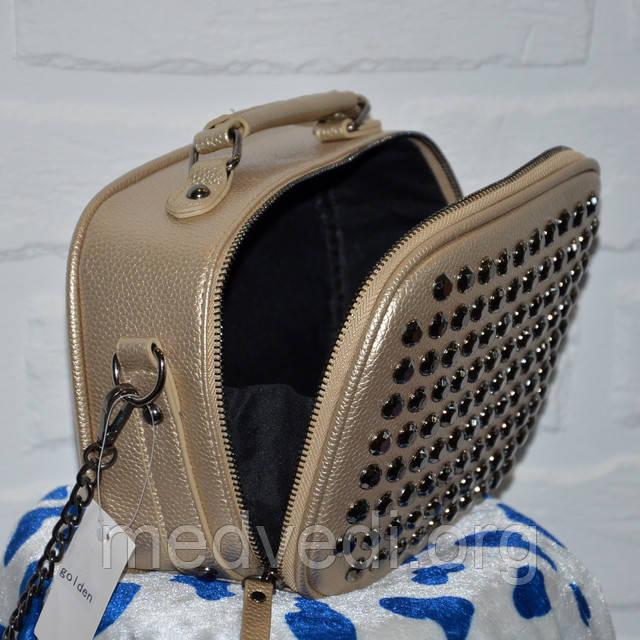Золотая женская сумка