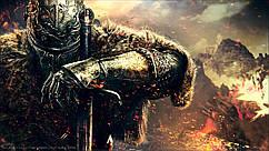 Картина 60х40см Dark Souls воин тьмы арт