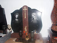 """Двойной памятник на могилу - """"Золотой крест"""""""