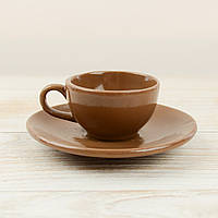 """Шоколадная фигура """"Чашка блюдцем"""" КЛАССИЧЕСКОЕ сырье. Размер: 117х117х42мм, вес 132г, фото 1"""