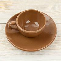 """Шоколадная фигура """"Чашка блюдцем"""" ЭЛИТНОЕ сырье. Размер: 117х117х42мм, вес 132г, фото 1"""