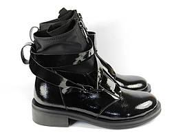 Женские лаковые стильные ботинки Fabio Monelli