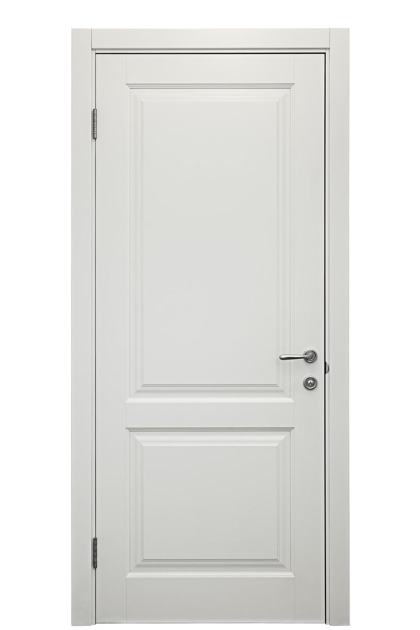 Межкомнатная дверь из сосны, цвет Белый матовый. Серия 10