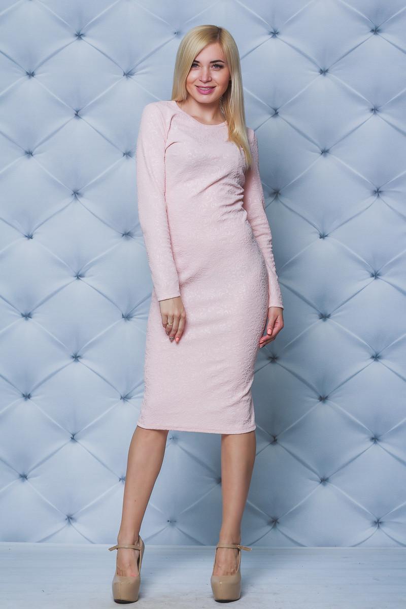 Платье женское футляр Узор персик