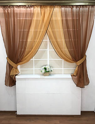 Комплект штор Кларис Тирамиссу, кухонные, фото 2