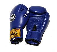 Перчатки боксерские CLUB  PVC BWS    (10 oz синий)