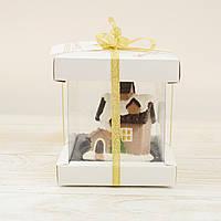 "Шоколадная фигура ""Новогодний домик"", ЭЛИТНОЕ сырье. Размер: 80х65х50мм, вес 145г, фото 1"