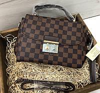 3c0373cd3980 Сумка Louis Vuitton Pochette   клатч луи витон   лв LV квадрат Коричневый