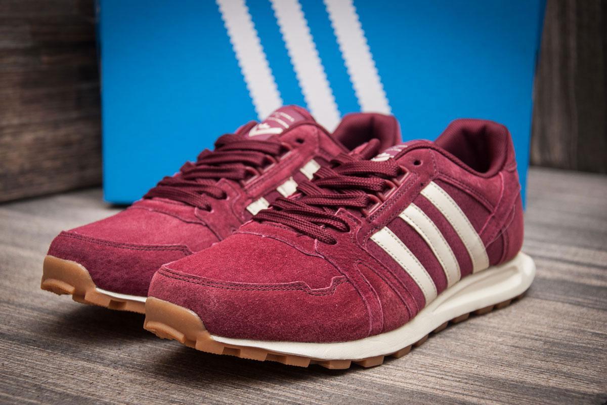 Кроссовки мужские 11302, Adidas, бордовые ( 44  )