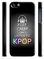 Чехол для iPhone 4/4s/5/5s/5с keep calm and listen k pop