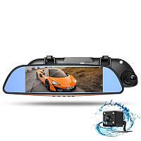 """Зеркало - видеорегистратор 7"""" дюймов с видеопарковкой и камерой заднего вида. Модель ЕА102, фото 1"""