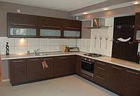 Кухня современная большая шпонированая, фото 1