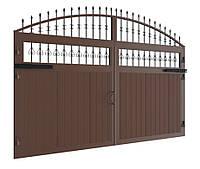 Распашные ворота DoorHan в алюминиевой раме с заполнением сэндвич-панелями SWG-A 2000x1800, фото 1