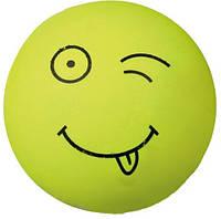 Игрушка для собак Trixie Трикси 3438 смайлик пенная резина 6 см (1шт) в ассортименте