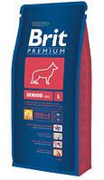 Корм для собак Brit Premium Senior L (Брит премиум сеньор л) для пожилых собак крупных пород 15 кг