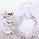 Детский постельный комплект на овальную кроватку Маленькая Соня Lucky Star 6 и 7 элементов, фото 2