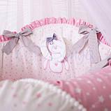 Детский постельный комплект на овальную кроватку Маленькая Соня Lucky Star 6 и 7 элементов, фото 6