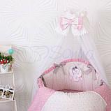 Детский постельный комплект на овальную кроватку Маленькая Соня Lucky Star 6 и 7 элементов, фото 7