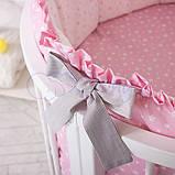 Детский постельный комплект на овальную кроватку Маленькая Соня Lucky Star 6 и 7 элементов, фото 8
