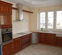 Шпонированая кухня П-образная, фото 1
