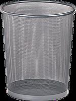Корзина для бумаг Buromax круглая 295x295x345мм металлическая серебро (BM.6270-24)
