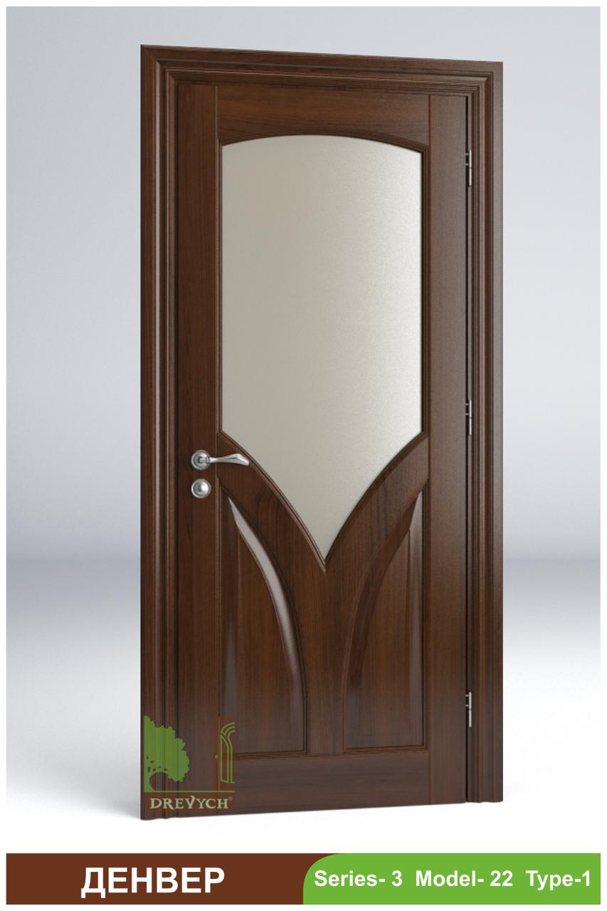 Міжкімнатні двері з масиву дерева Денвер