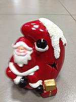 Дед Мороз на луне, сувенир новогодний,12Х8Х8 см, статуэтка, керамика, Днепропетровск, фото 1