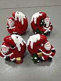 Дед Мороз на луне, сувенир новогодний,12Х8Х8 см, статуэтка, керамика, Днепропетровск, фото 4