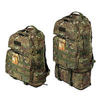 Тактический туристический крепкий рюкзак трансформер 40-60 литров мультикам, фото 1
