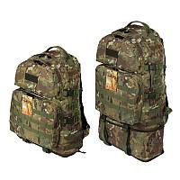 Тактический туристический крепкий рюкзак трансформер 40-60 литров мультикам
