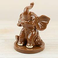 """Шоколадная фигура """"Слоник"""" ЭЛИТНОЕ сырье. Размер:74х85х110мм, вес 230г, фото 1"""