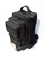 Тактический, штурмовой крепеий рюкзак 25 литров черный, фото 1