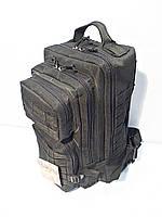 Тактический, штурмовой рюкзак черный 25 литров