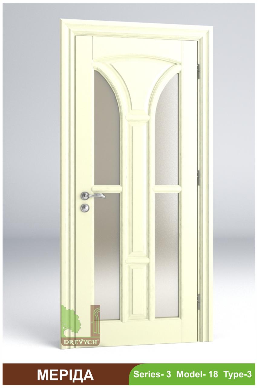 Міжкімнатні двері з масиву дерева Меріда
