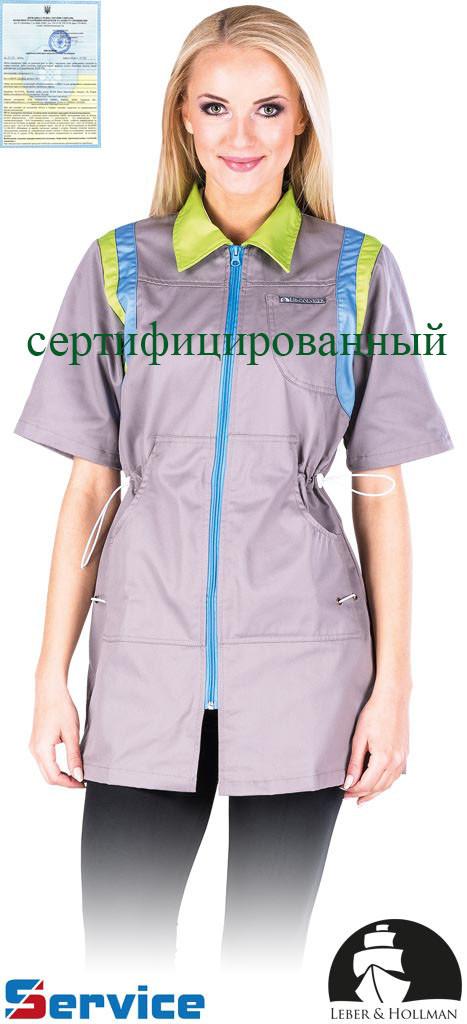 Халат защитный женский с коротким рукавом LH-COVISER SJNJZ