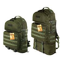 Тактичний туристичний міцний рюкзак трансформер 40-60 літрів афган
