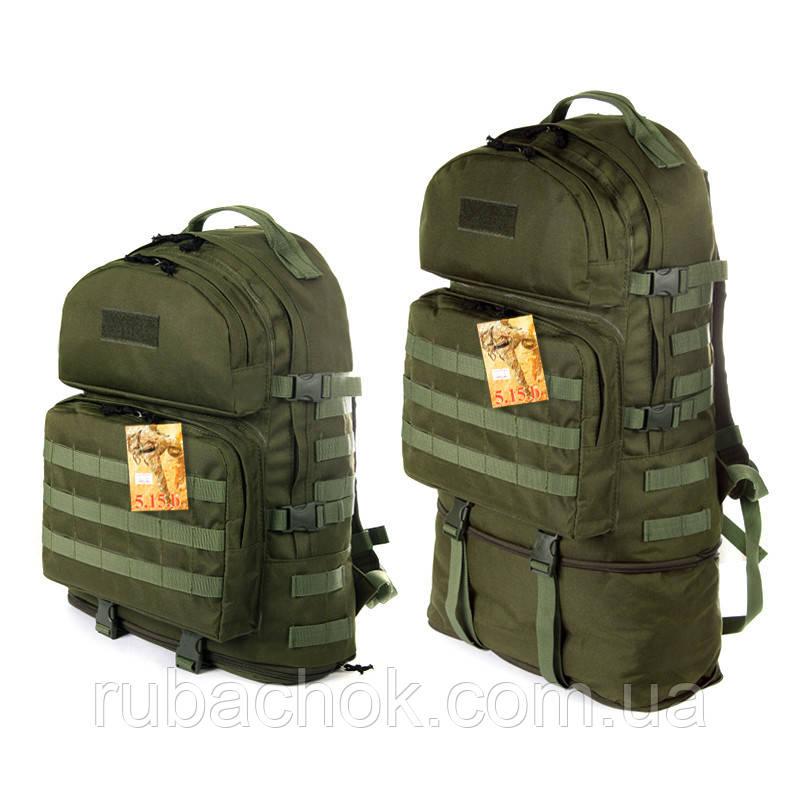 Тактический туристический крепкий рюкзак трансформер 40-60 литров афган, фото 1