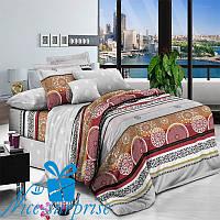 Набор постельного белья Евростандарт из поплина КАТМАНДУ (200*220), фото 1