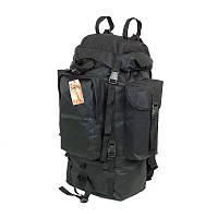 Туристический армейский супер-крепкий рюкзак на 75 литров чёрный, фото 1