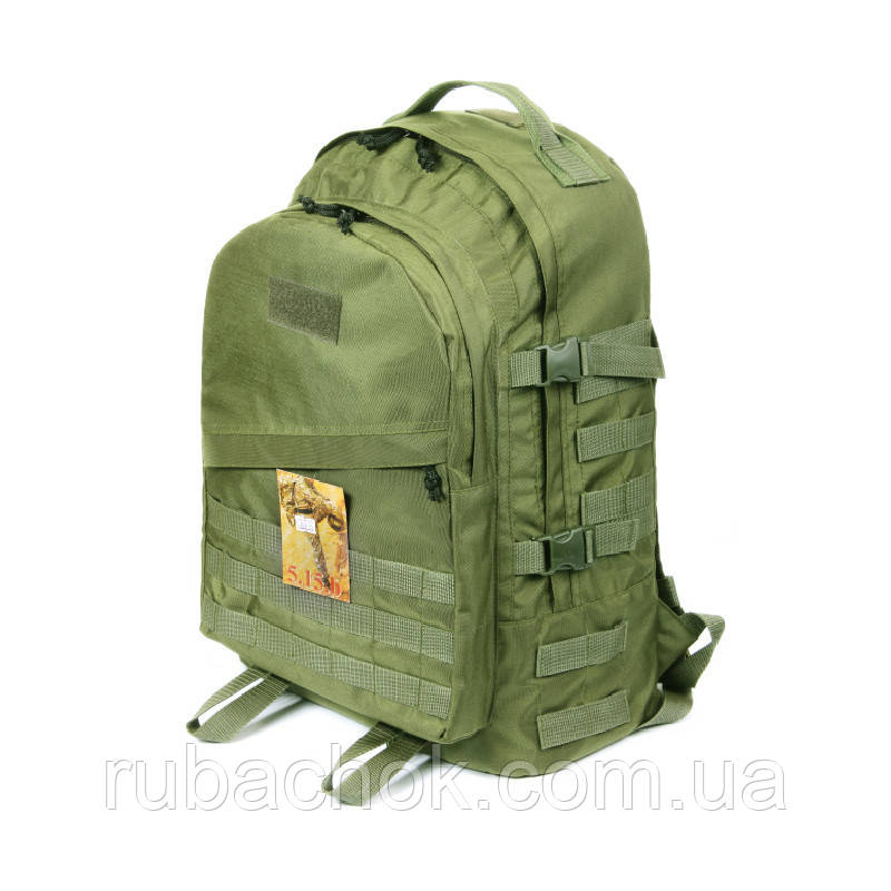 Тактический походный супер-крепкий рюкзак с оргонайзером 40 литров олива