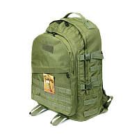 Тактический походный супер-крепкий рюкзак с оргонайзером 40 литров олива, фото 1