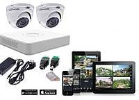 Комплект HDTVI видеонаблюдения Hikvision - 2МП камеры 2 шт.