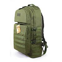 Тактичний військовий туристичний супер-міцний рюкзак 60 літрів олива