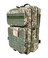 Тактический армейский походный 3-х дневный рюкзак Assault на 50 литров украинский пиксель Cordura 1000D