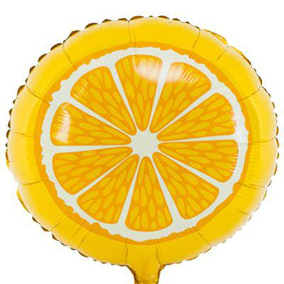Фольгированный шар апельсин 45см